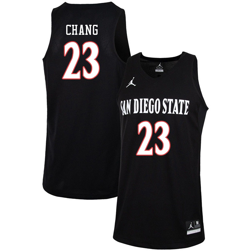 Jordan Brand Men #23 Ed Chang San Diego State Aztecs College Basketball Jerseys-Black
