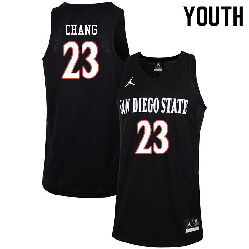 Jordan Brand Youth #23 Ed Chang San Diego State Aztecs College Basketball Jerseys-Black